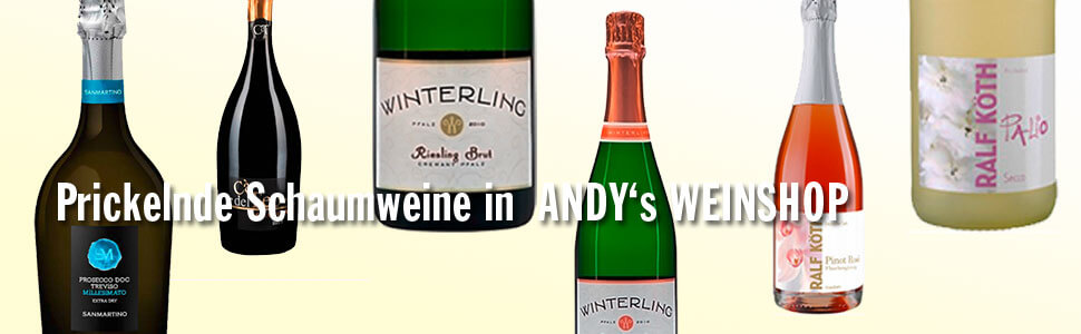 Sekt, Prosecco bei Andys-Weinshop